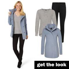 Jacke, Print-Bluse und Skinny Jeans von zero #zerofashion #outfit #ootd