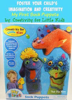 Foster Your Child's Imagination and Creativity with My First Sock Puppets #orientaltrading
