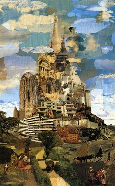 """Nils Ole Lund, The Tower of Babel, After 1970. """""""" brilliant photomontage"""