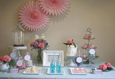 Tea Party Set Up Ideas.  High Tea Dessert Table from Hostess With the Mostess.