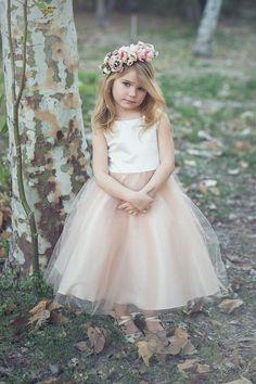 Elegant Satin and Tulle Flower Girl Dress