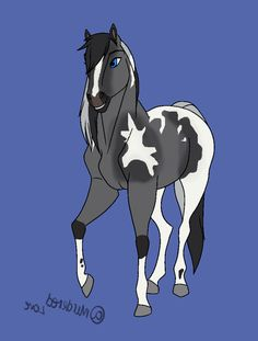 Spirit Horse Movie, Spirit The Horse, Spirit And Rain, Horse Cartoon Drawing, Horse Drawings, Cartoon Drawings, Cute Horses, Pretty Horses, Beautiful Horses