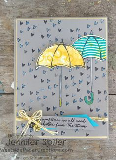 Weathering the storm together is easy with the Weather Together stamp set and when the rain is hearts....that helps also westsidepapercreations.com