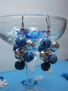 Jingle Bell earrings, Christmas jewelry from Creme de la Chroma on Etsy