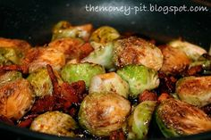 Honey Glazed Brussels Sprouts with Bacon and Walnuts