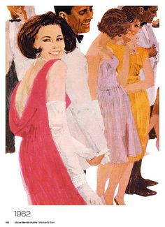 'Woman's Own' magazine illustration, 1962 (artwork by Bernie Fuchs) Fuchs Illustration, Magazine Illustration, American Illustration, Bob Peak, 60s Art, Chelsea Girls, Arte Pop, Pulp Art, American Comics