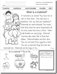 Printables Mammal Worksheets mammals worksheet for kids science activity diy homework of the woods are so fun to learn about especially when each animal has a