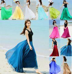 Free shipping 2013 New Design 8 Meters Chiffon Maxi Long Skirt Women's Fashion Bust Skirt Summer Ladies Chiffon Skirt US $31.30