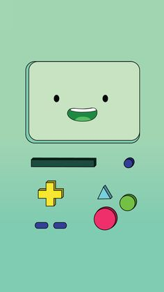 wallpaper for IPhone of BMO from Adventure Time♥ BMO IPhone Wallpaper Bmo Iphone Wallpaper, Iphone 7 Wallpapers, Cute Wallpaper Backgrounds, Cool Wallpaper, Green Wallpaper, Wallpaper Ideas, Adventure Time Characters, Adventure Time Art, Adventure Time Drawings