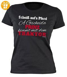 Damen Shirt mit coolem Motiv - Scheiß aufs Pferd, a gscheida Prinz... - Girlie Shirt - Geschenk - Geburtstag - schwarz (*Partner-Link)