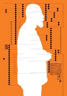 Wordless | 2007  Reza Abedini poster exhibition 100 X 70 cm Offset