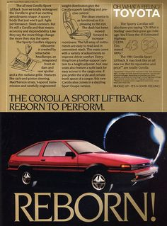 My 15th car: 1985 Toyota Corolla AE86 Hatch. Mine was like this. Wanted to like this car but it was a piece of crap and I never fit in it. Glad to see it go.