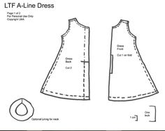 LMA - A Line Dress Pattern Pt1 V2 by *Randomfish, via Flickr