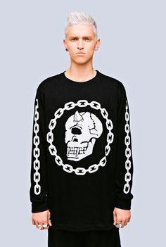 Long Clothing x Mishka Collaboration Chain Long Sleeve Shirt - Unisex - Pixie Kitsune