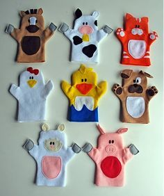 a great felt puppet tutorial with patterns....and so cute!
