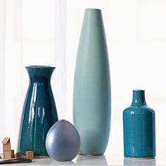 Colored Pure Vase Collection - modern - vases - West Elm