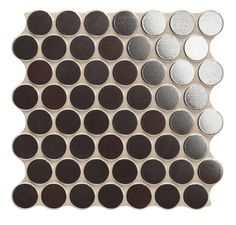 309x309 satin pressed Penny Round Look Glazed Porcelain Tile