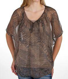 BKE Boutique Pieced Henley Shirt