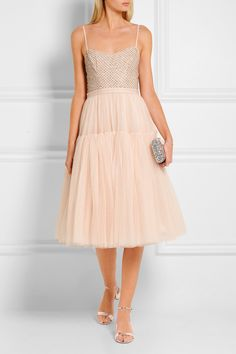 Blush tulle Concealed zip fastenings along back 100% nylon; trim: 100% polyester; lining: 100% polyester Dry clean Designer color: Ballet Pink