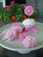 pink cupcake toppers