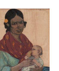 Femme et enfant André Sureda, 1917 Huile sur toile, 29 x 19 cm Collection privée