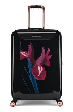 Ted Baker London 'Medium Stencilled Stem' Four Wheel Suitcase (28 Inch) available at #Nordstrom