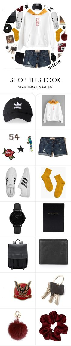 """cruisin down the highway with my friends, top down"" by sierrrrrra ❤ liked on Polyvore featuring adidas, MANGO, Hollister Co., Madewell, CLUSE, Smythson, Polaroid and shein"