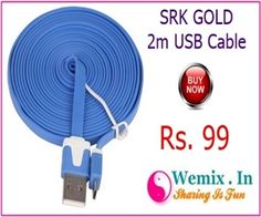 SRK GOLD 2M USB Cable Rs 99