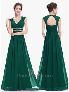 Shop for Long Bridesmaid Dress online. Buy Sleeveless Sweetheart Long Green Bridesmaid Dress With Open Back at cheap price. Ball Dresses, Nice Dresses, Evening Dresses, Prom Dresses, Wedding Dresses, Modest Wedding, Trendy Wedding, Bridesmaid Dresses Online, Green Bridesmaid Dresses