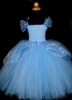 Girls Blue Cinderella Princess Dress Costume by DressNup on Etsy, $135.00