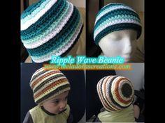 ▶ Ripple Wave Beanie REDONE - Crochet Tutorial - YouTube