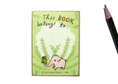 Libro de elefante libro etiquetas adhesivos stickers de planner planificador de lectura elefante pegatinas lindo ex libris adhesivos stickers de biblioteca