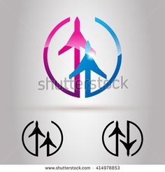 Airline or Airplane Business Company Logo Design. Airline logo icon. Airport…