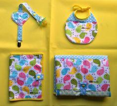 Resultado de imagen de conjuntos o lotes de complementos de bebe de tela a mano
