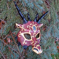 Red and Gold Dragon Mask   by *merimask