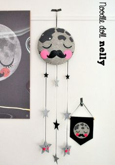 Mr Moon Mobile by NoodledollNelly on Etsy