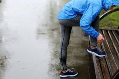 If your next run involves rain, here are some tips to stay comfortable (if not exactly dry! Athletic Fashion, Athletic Outfits, Athletic Style, Running In The Rain, Stay Warm, Fitness, How To Make, Tips, Sporty Style