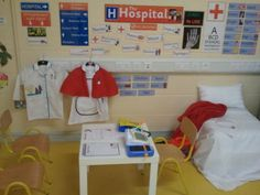 KRANKENHAUS Structured activities for buddies (many literacies, alternatives to reading books only) hospital role play Dramatic Play Themes, Dramatic Play Area, Dramatic Play Centers, Doctor Role Play, Playing Doctor, Play Based Learning, Learning Through Play, Reggio, Play Corner