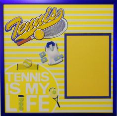 LIVE FOR TENNIS Premade Memory Album Page with by theshadowbox, $47.95
