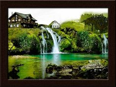 Waterfall right in front of your eyes every time you wake up. Own or gift this waterfall painting only at www.gloob.in