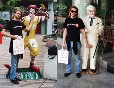 Kurt Cobain, Ronald McDonald and Colonel Sanders