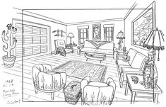 Concept art sketches character design references living rooms New ideas Background Drawing, Cartoon Background, Animation Background, Background Ideas, Unique Art Projects, House Colouring Pages, Art Gallery Wedding, Digital Art Anime, Interior Design Sketches