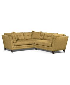 "Irene Fabric Sectional Sofa, 2 Piece (1-Arm Sofa and 1-Arm Loveseat) 89""W x 89""D x 29""H - Sectionals - furniture - Macy's"