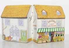 Dana Kubick FLORIST PRODUCE Shop House Dollhouse Miniature Tin Box Container