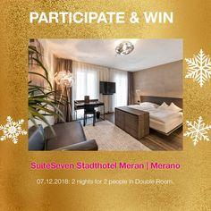 A very special win behind window Nr. 7 - for 2 at SuiteSeven Meran. Double Room, Advent Calendar, Windows, City, Double Bedroom, Window, Ramen