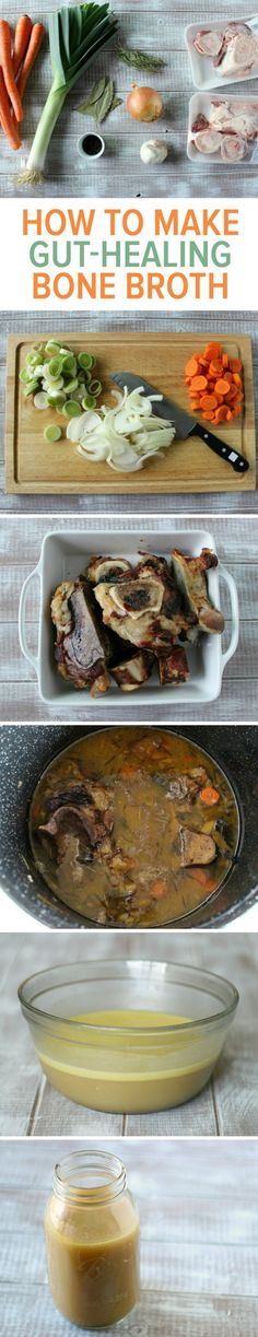 Looking for a savory bone broth recipe? Look no further: this bone broth recipe is the only one you will ever need. The recipe packs a thick gelatinous broth filled with minerals and healing properties that many cultures have believed in for thousands of Paleo Recipes, Soup Recipes, Cooking Recipes, Simple Recipes, Make It Easy, Menu Dieta, Beef Bone Broth, Bone Soup, Soup Broth