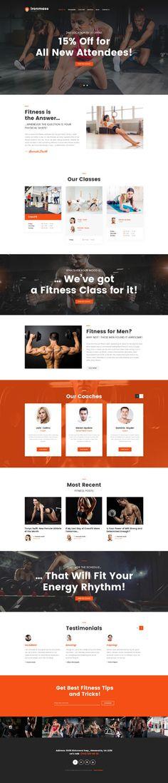 Template 62271 - Ironmass Fitness  Responsive Website Template