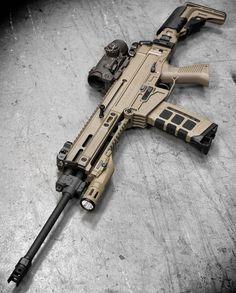 SCAR 17 Heavy .308 battle rifle - craftIdea.org Airsoft Guns, Weapons Guns, Guns And Ammo, Armas Ninja, Revolver Pistol, Battle Rifle, Combat Gear, Custom Guns, Cool Guns