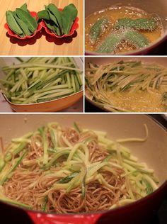 Receita de Espaguete de Abobrinha na Manteiga e Sálvia | Rango do Dia - Receitas diárias