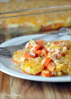 Panko-Crusted Creamy Carrot Casserole | Very Culinary